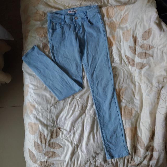 [免運]水藍色褲M號