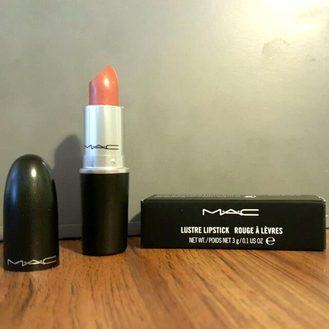 "MAC Lustre Lipstick ""Real Red Head """