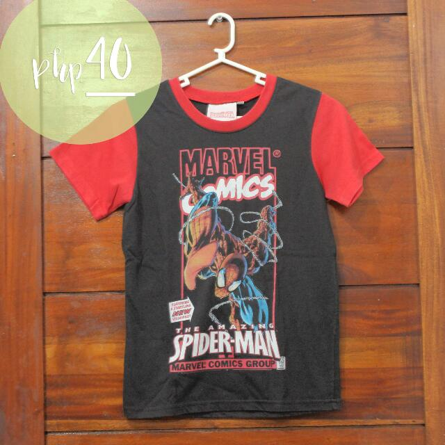 Marvel Black And Red Spiderman Shirt For Boys
