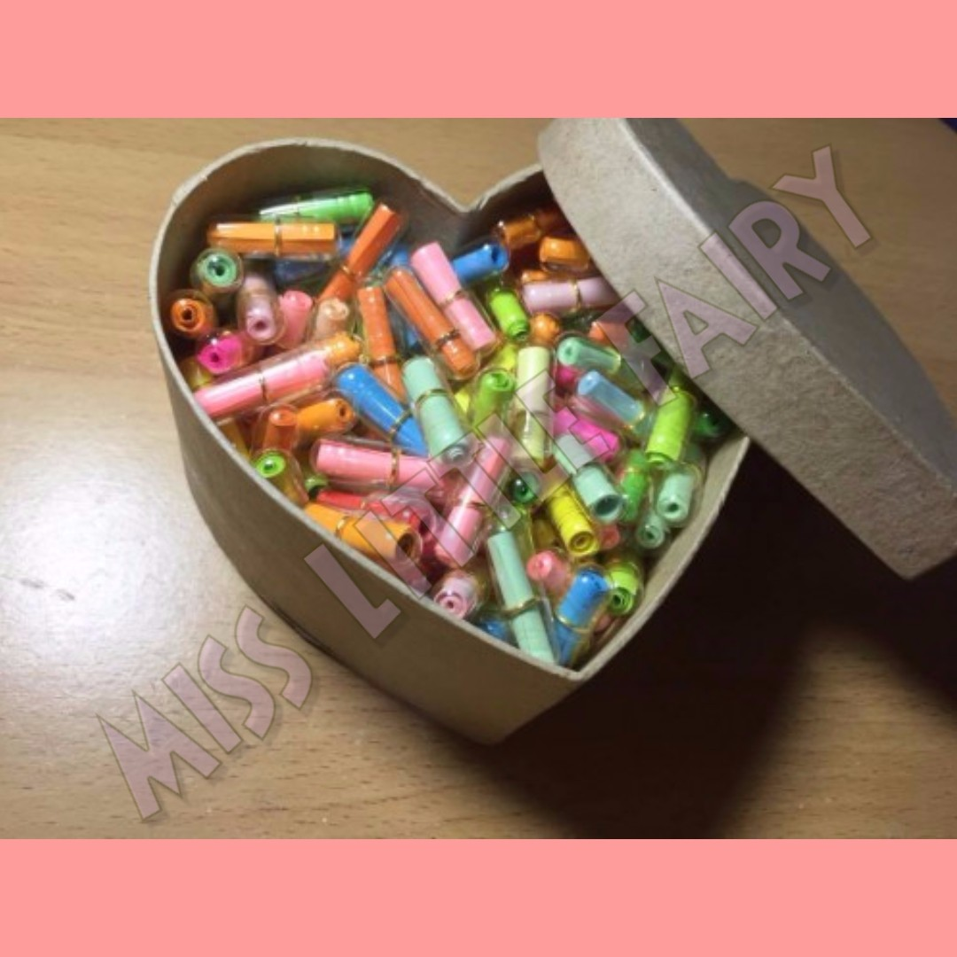 Message Capsule in a heart box