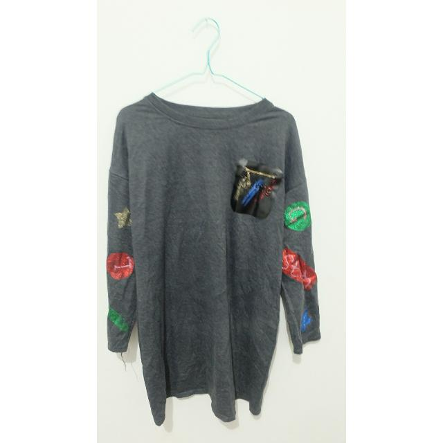 Midi Sweater grey