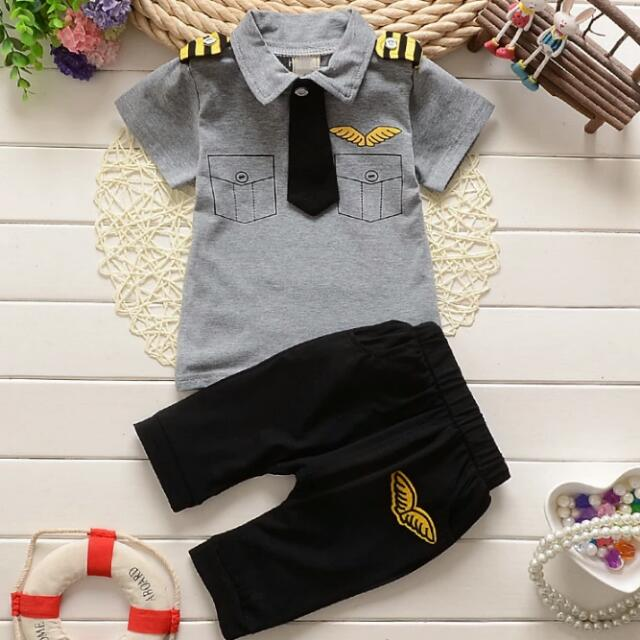 b7c3d5ab2 new casual summer clothes suit childern stripe gentleman clothing ...