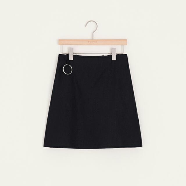 (含運)PAZZO率性女孩圓環設計感短裙 黑色