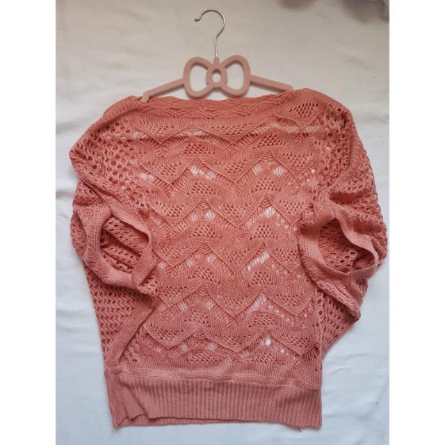 Peach Knit Top