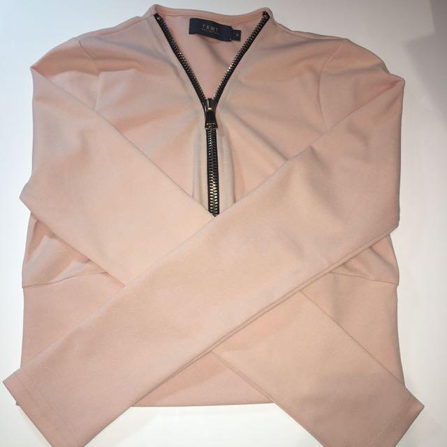 Pink Zip Up Top