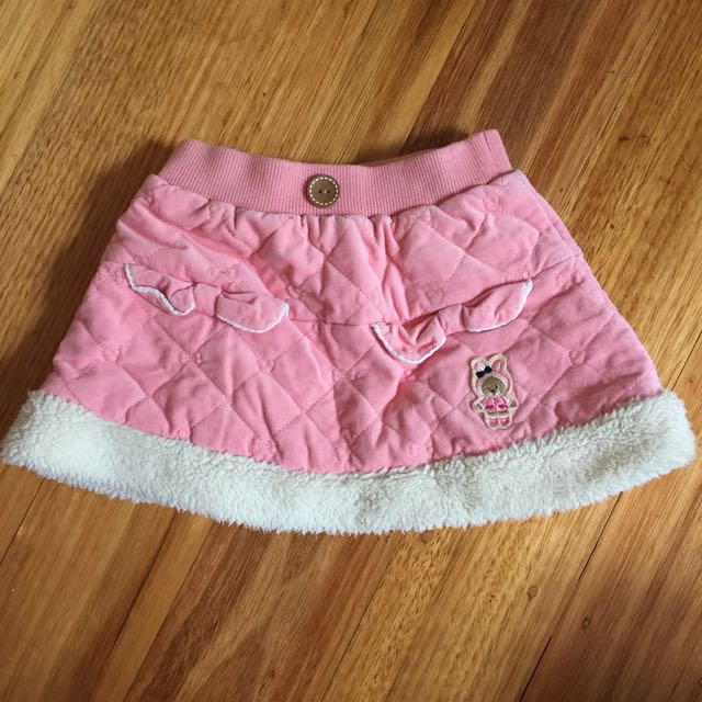 PRE-OWNED Girls Pink Rabbit Skirt (Size 105cm)