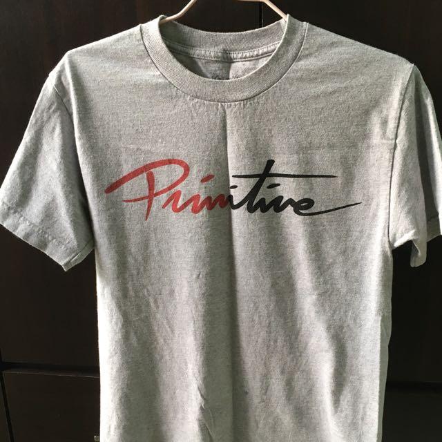 Primitive 灰色logoT