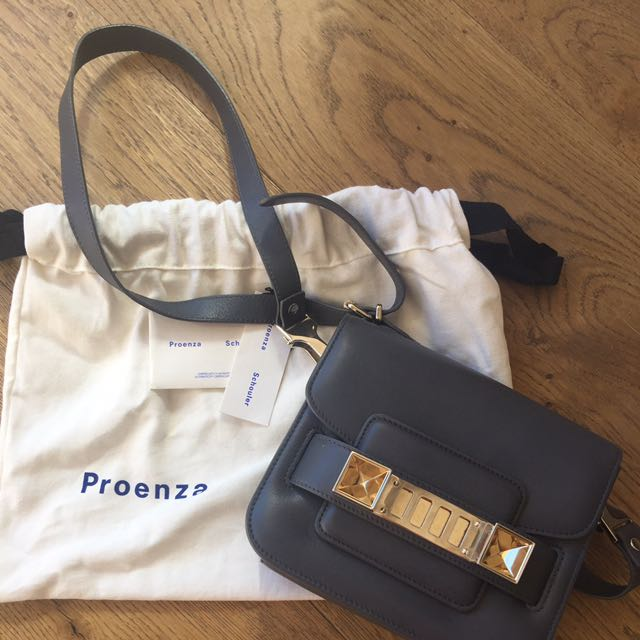 Proenza Schouler PS11 Tiny In Grey Leather RRP $1750