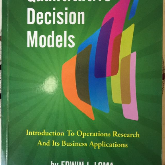 Quantitative Decision Models