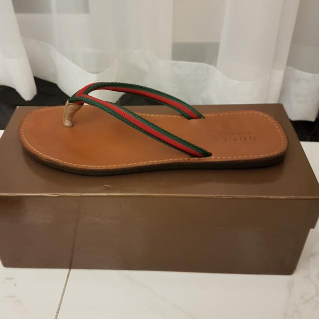 Sandal GUCCI Authentic Leather Size 42