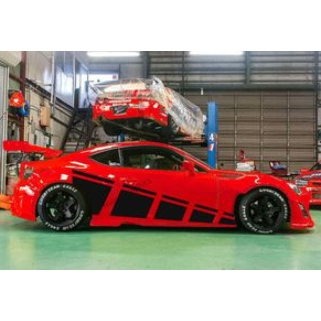 Scion FRS Ralley Strips Flag car truck body racing