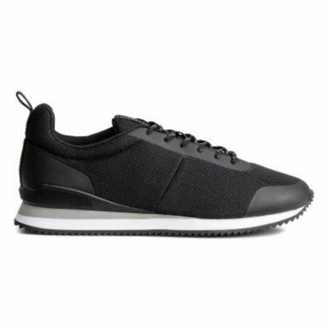 Sepatu H&M Sneakers Mesh Black