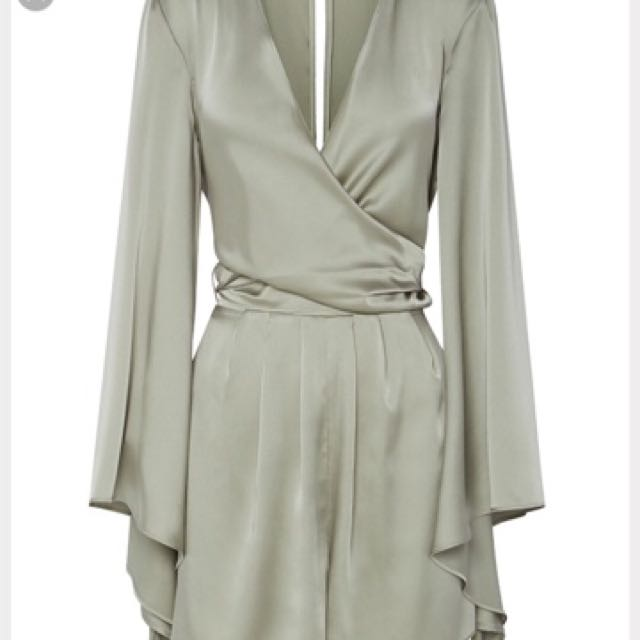 a731177495a8 Sheike Ashley Wrap Silk Playsuit Dress