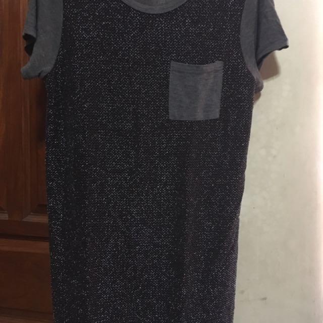 Shinning Shimmering Gray Shirt