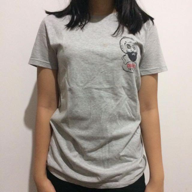 Skelly grey unisex tee t-shirt