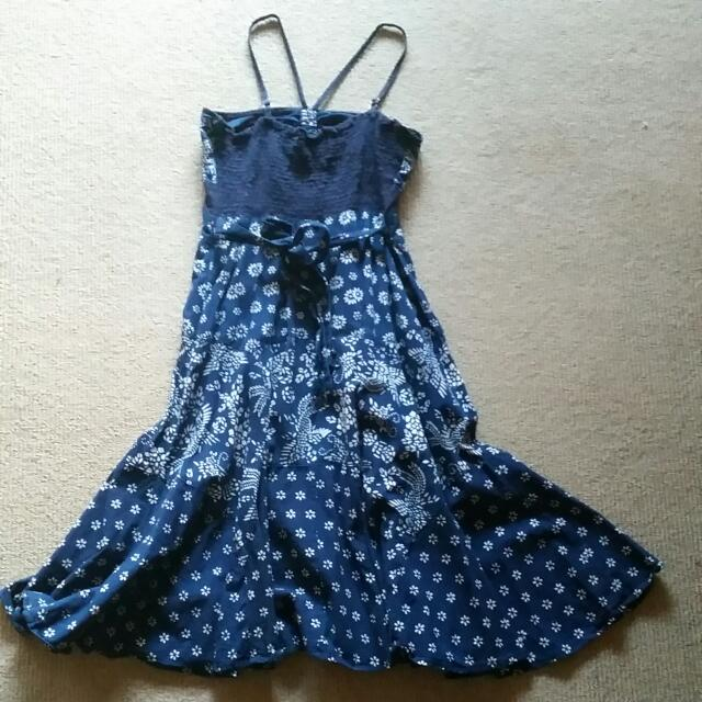Batik Blue/White Dress
