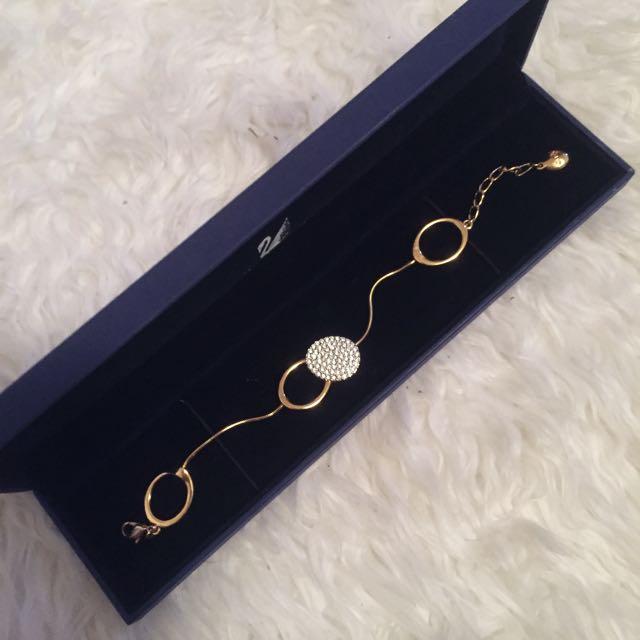 Swarovski Gold Diamond Bracelet