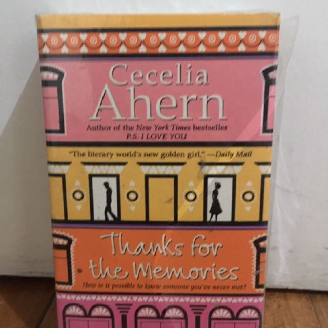 Thanks For The Memories - Cecilia Ahern NEW