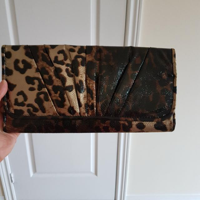 Tiger Print Black Clutch