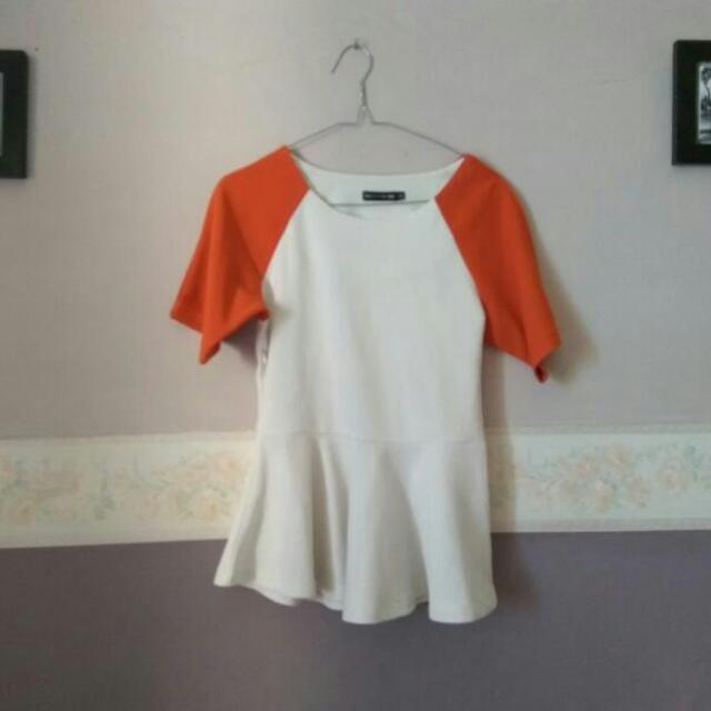 Tue Express Peplum Wedges Top