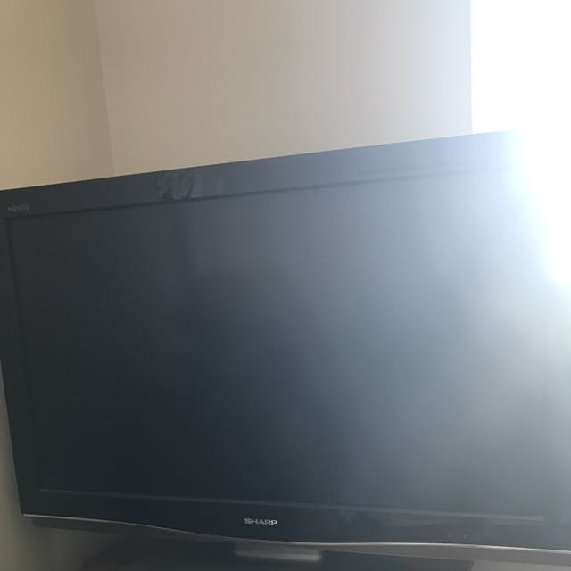 TV, Cabinet And DVD Player