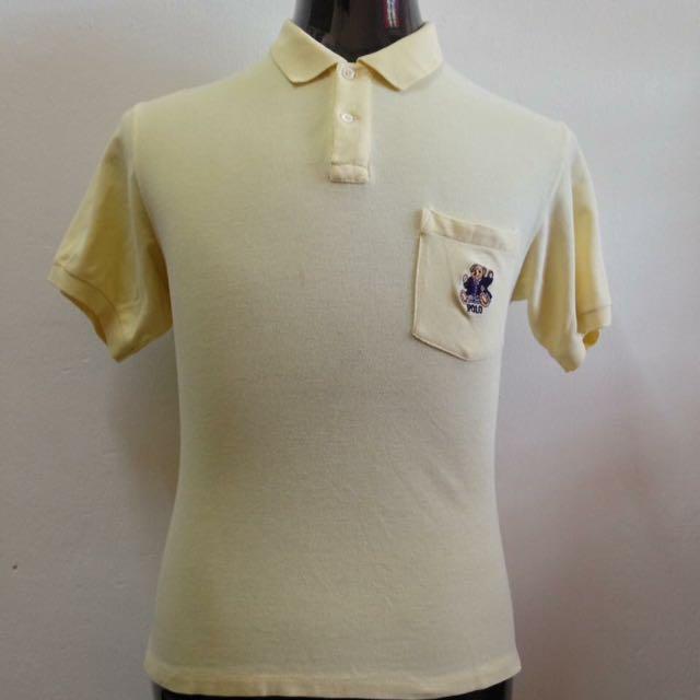 b2c612d5a Vintage Polo Bear Ralph Lauren Collar Tshirt
