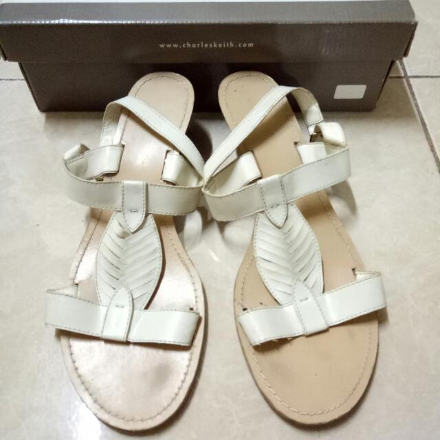 Charles & Keith Wedges Off White