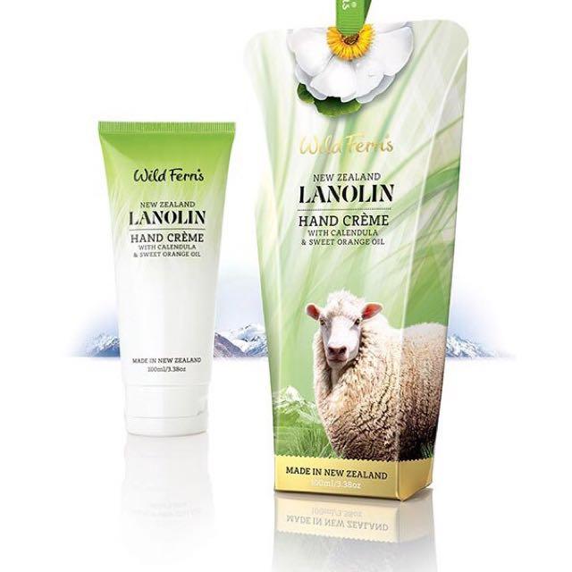 Wild Ferns紐西蘭綿羊油金盞花護手霜100ML(添加甜橙油)