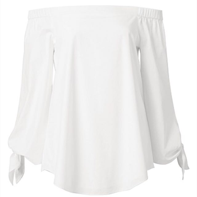 Witchery Crip Cold Shoulder Top White