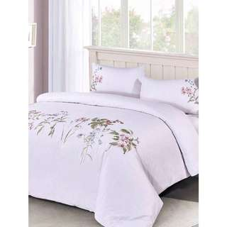 Brand New Eileen West Cotton Botanicals Duvet Set