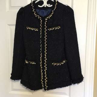 Chanel Style Cardigan Sweater Top Blink