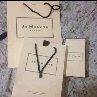 英國奢華香氛Jo Malone紙袋