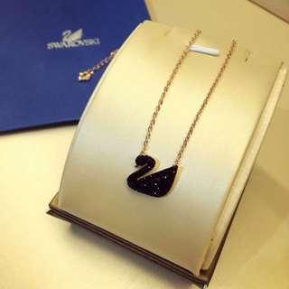 Swarovski in Black Crystals Chain Necklace