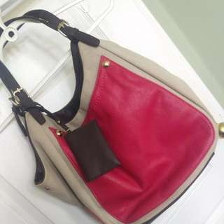 Two Tone Canvas Purse