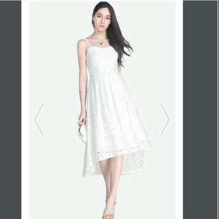 BN Fayth Stardust Lace Dress White