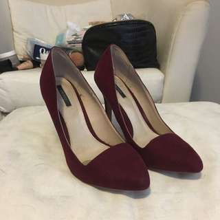 Forever 21 Burgundy Pumps Size 8