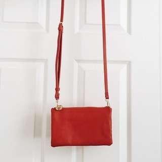 ZARA TRIO INSPIRED RED CROSSBODY BAG
