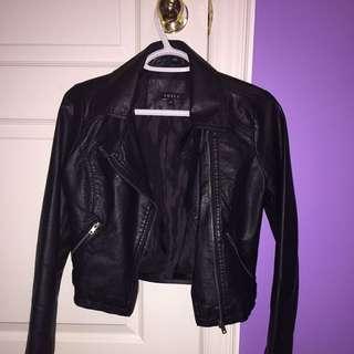 Black leather jacket *REDUCED*