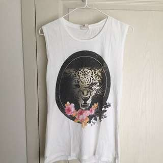 COTTON ON Leopard Floral Tank Top