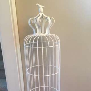 Two piece White Birdcage