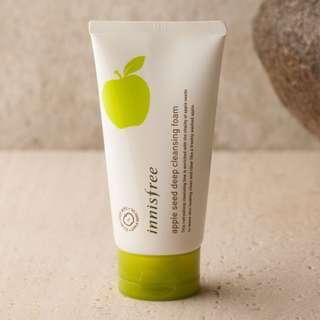 [包郵]Innisfree 蘋果籽清透深層潔面乳 Apple seed deep cleansing foam 150ml