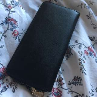 Black And Gold Leather Wallet