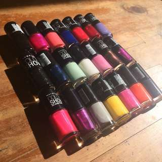 Maybelline Color Show Nail Polishes