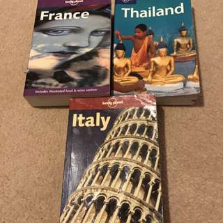 Lonely Planet Travel Guides - Italy France Thailand