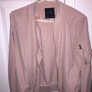 ZARA WOMENS PINK BOMBER (small)