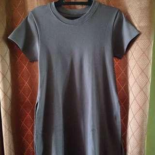 Gray Dress with high slit