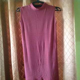 Dress with high slit