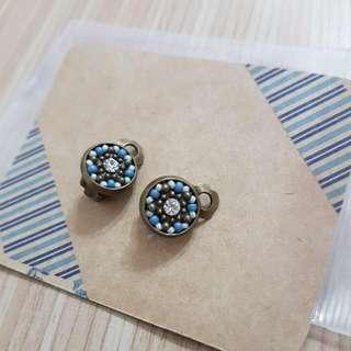馬賽克風格夾式耳環