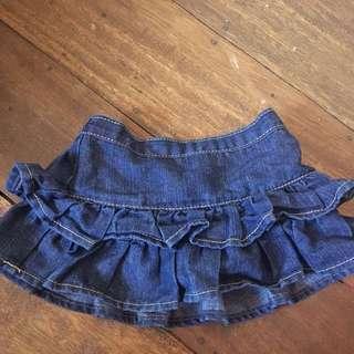 Okidokie Layered Maong Skirt