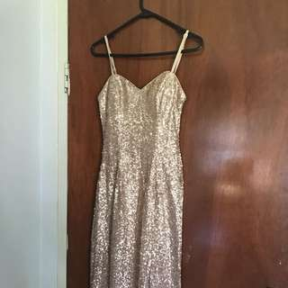 Formal Golden Sequence Gown